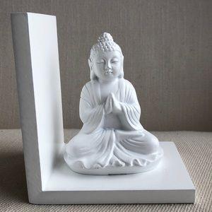 WHITE BUDDHA BOOK END